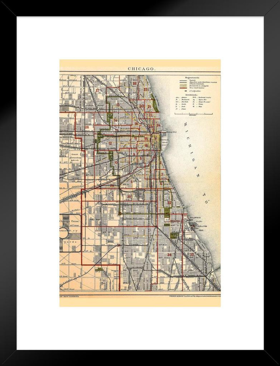 City of Chicago Illinois Historic Antique Style Map Matted Framed Wall Printable Map Of Chicago Illinois on printable map of chicago attractions, map of north lake shore drive chicago, printable road map of illinois, printable map of downtown chicago magnificent mile, printable map of illinois highways, printable chicago skyline, printable downtown chicago city map, whites bridge chicago, printable map of navy pier chicago, printable map of southern illinois, printable map of northern illinois, map of bad dangerous neighborhoods in chicago, printable map of illinois cities, print map of chicago,