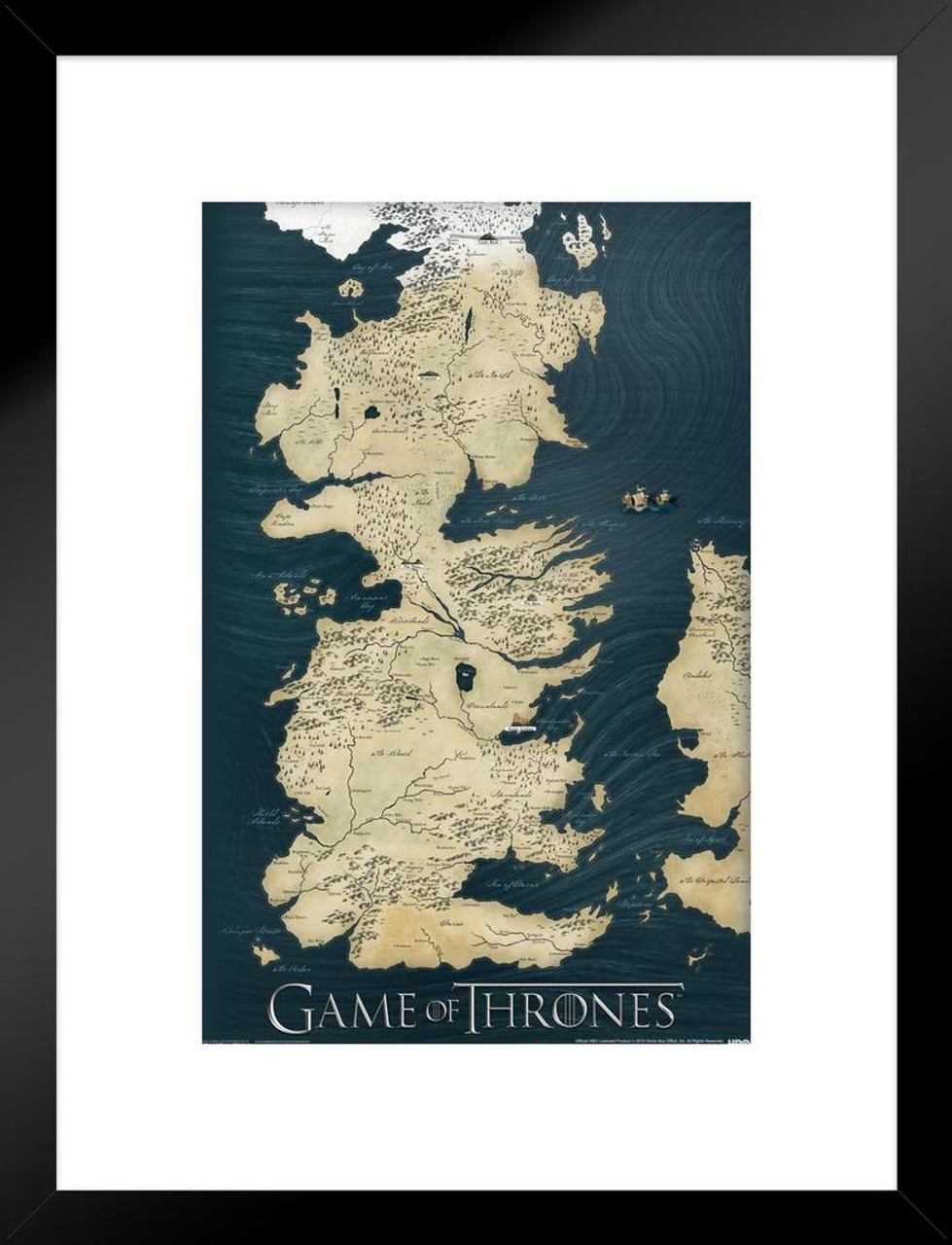 Game of Thrones Westeros Map HBO Fantasy Drama TV Television Series Game Of Thrones Hbo Map on game of thrones maps pdf, game of thrones hbo series, deadwood hbo, true detective hbo, game of thrones hbo store, game of thrones maps and families,