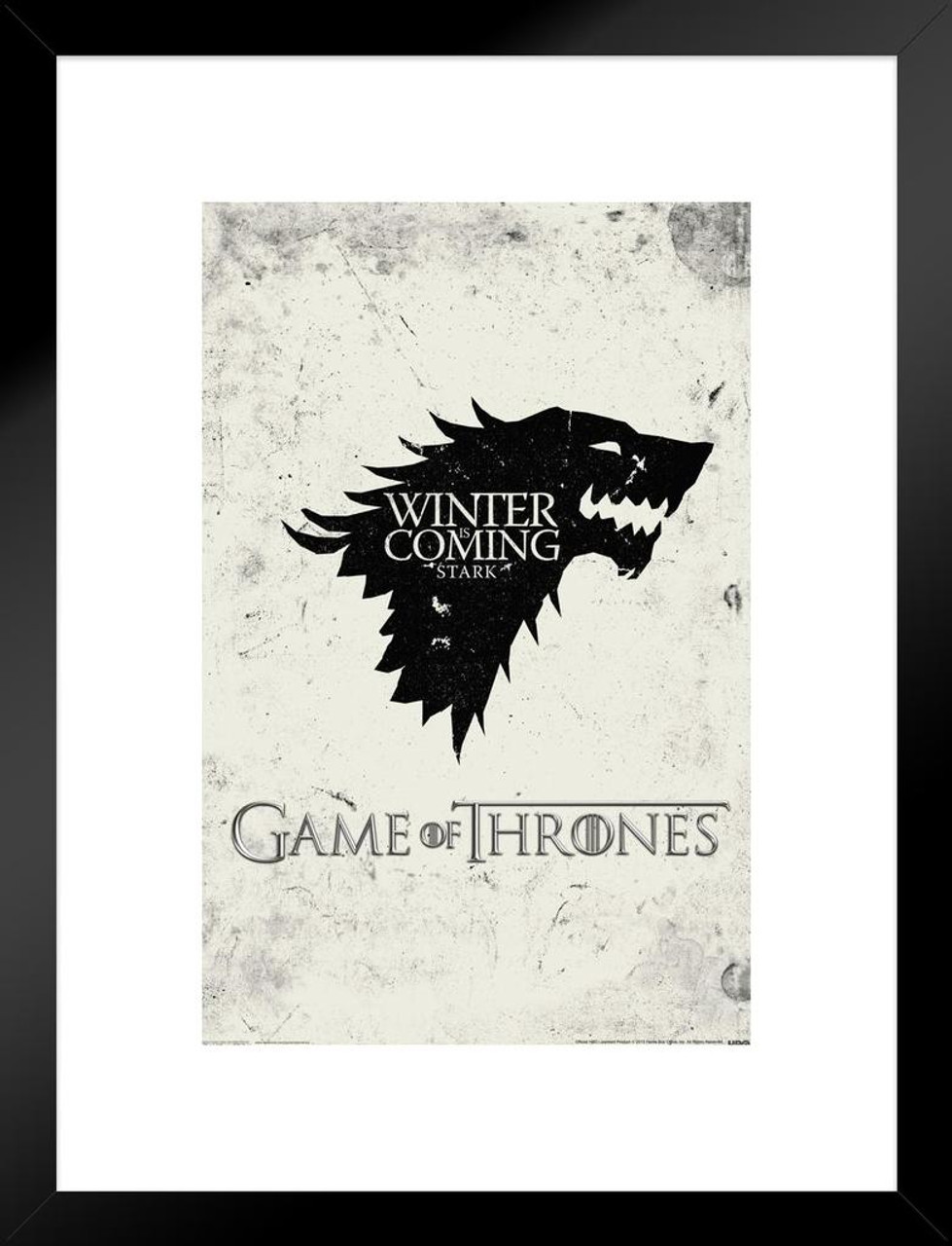 Game Of Thrones Winter Is Coming Stark HBO Medieval Fantasy TV ...