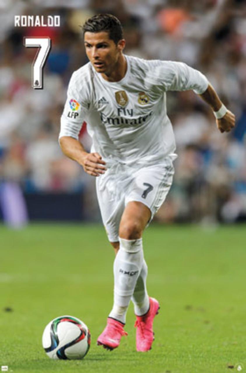 SPORT PHOTOGRAPH RONALDO REAL MADRID FOOTBALL GIANT ART POSTER PRINT  WA463
