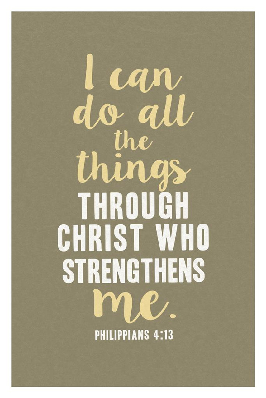 Philippians 4:13 Wall Art I can do all things through Christ