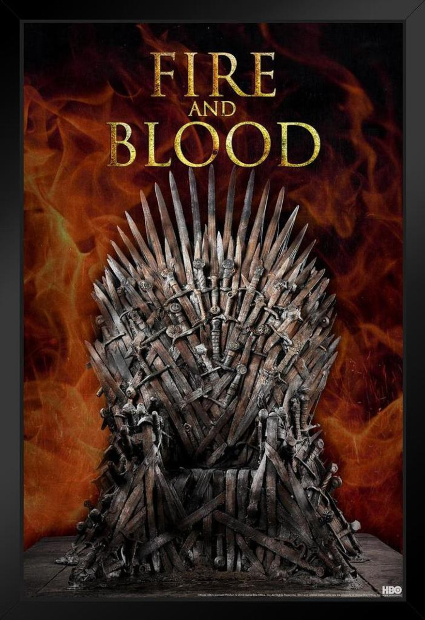 Game Of Thrones Iron Throne Fire And Blood Season 9 Framed Poster