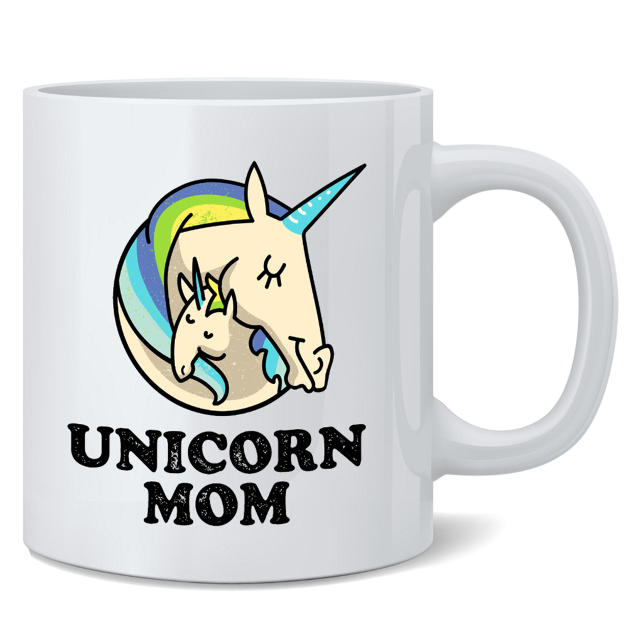 Unicorn Mom Gifts For Moms Cute Ceramic Coffee Mug Tea Cup Fun Novelty Gift 12 Oz Poster Foundry