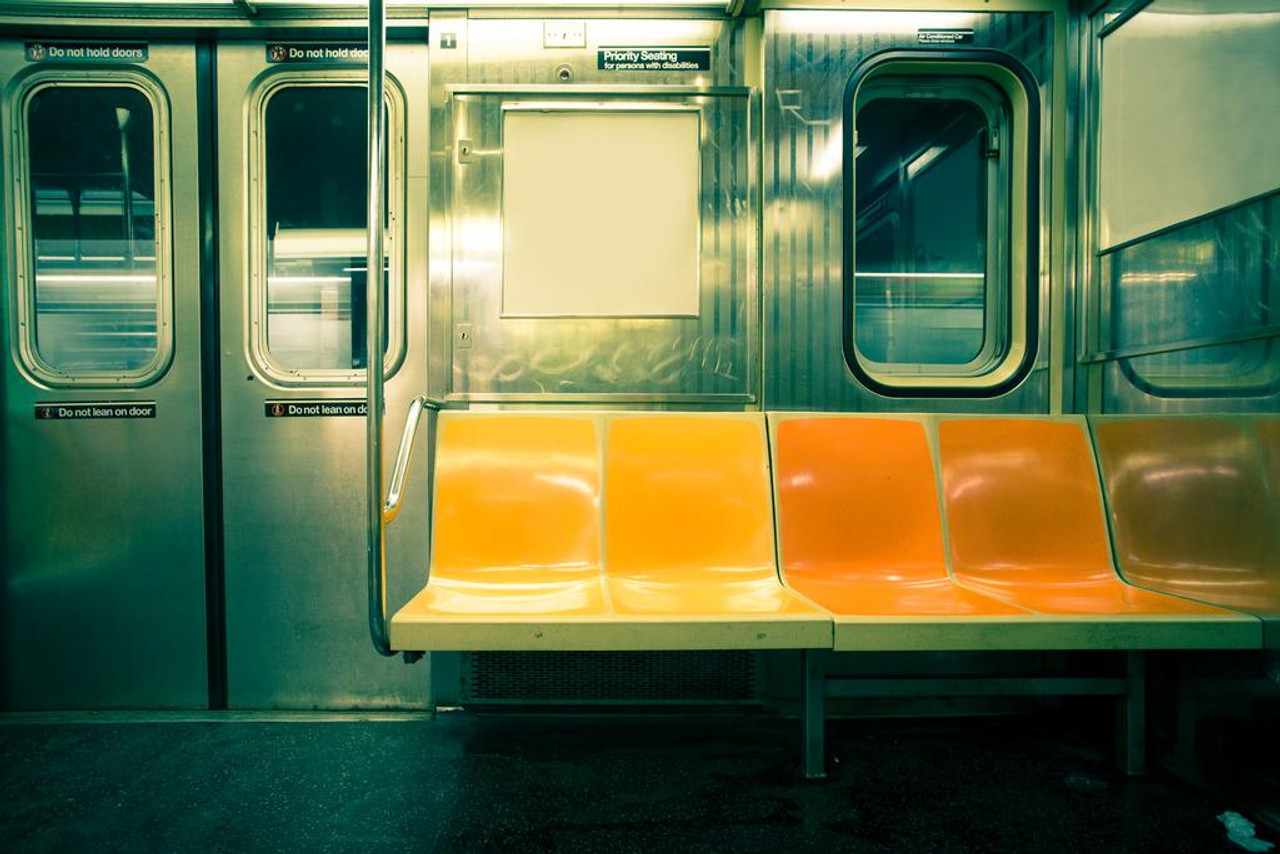 New York City Nyc Subway Car Authorized Photo Mural Giant Poster 36x54 Inch