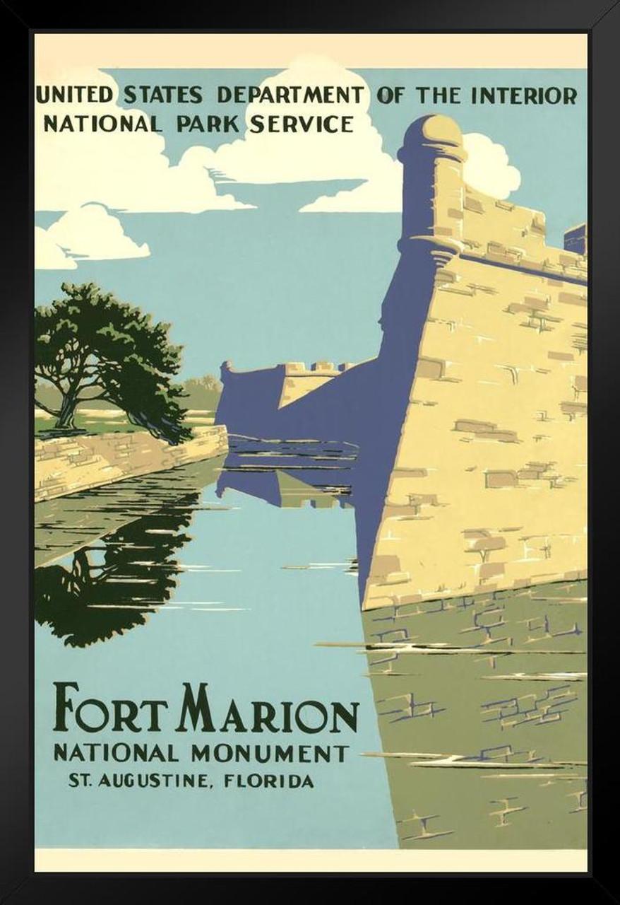 Vintage Art Print St Fort Marion National Monument Augustine NEW POSTER