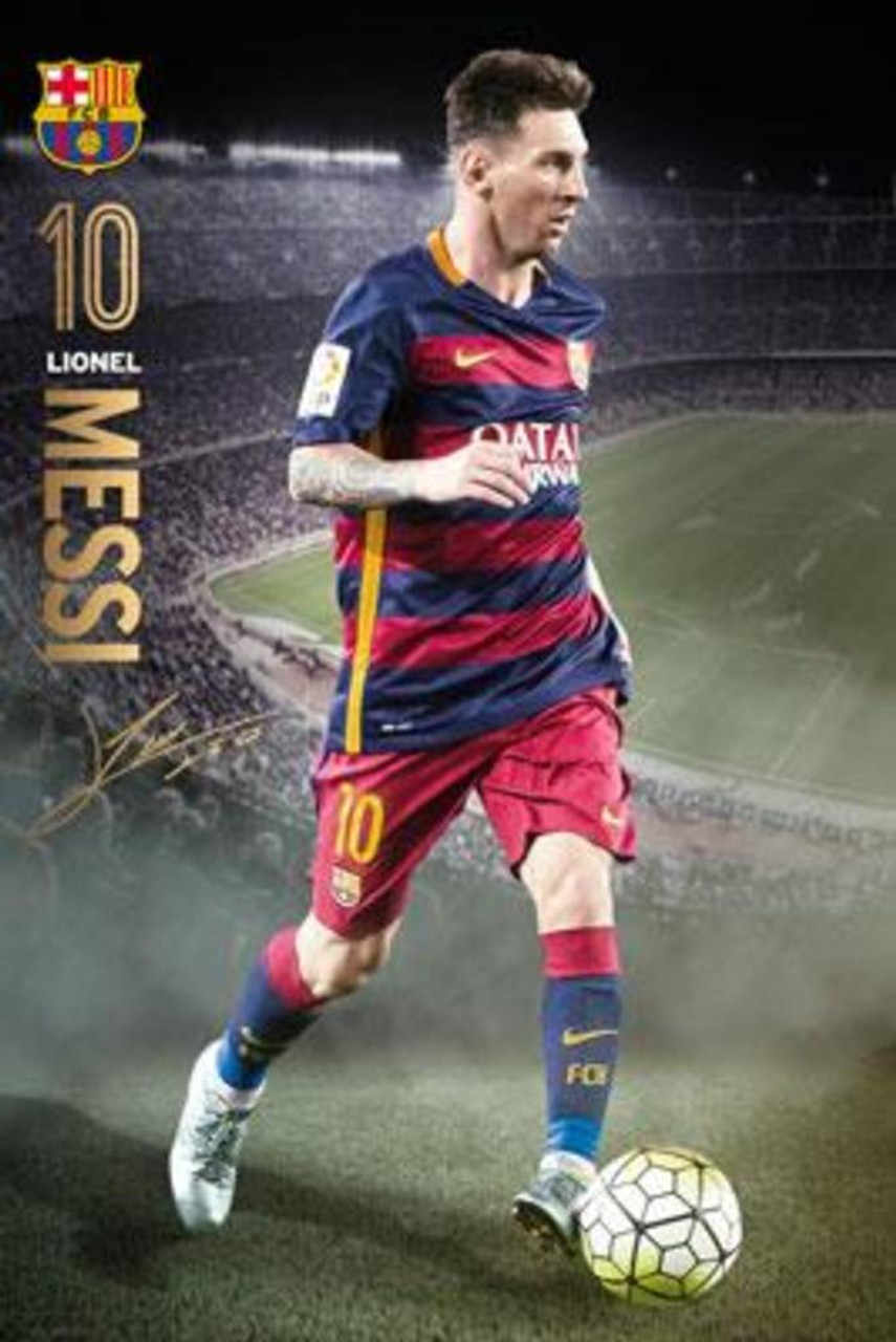 91f53dc57 Lionel Messi FC Barcelona Action 15/16 Soccer Sports Poster 24x36 inch -  Poster Foundry