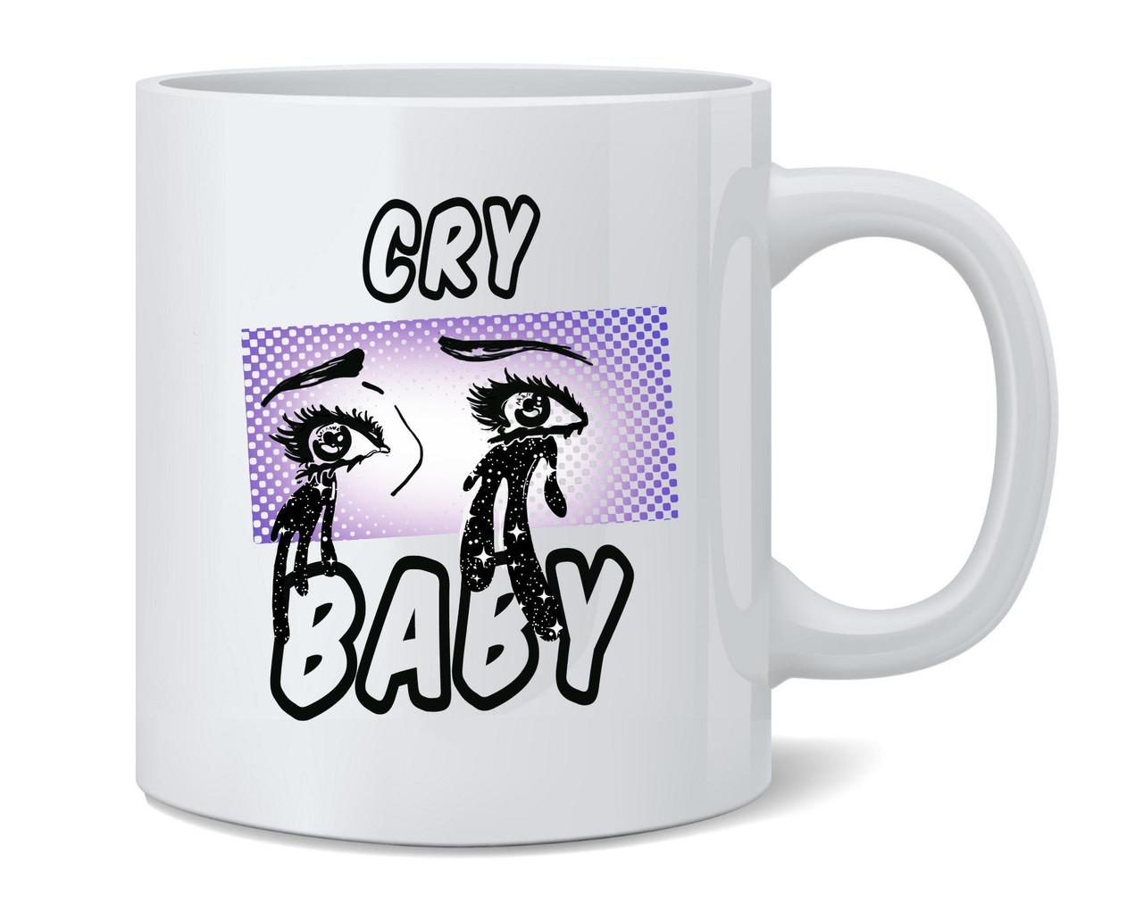 Cry Baby Retro Aesthetic Pop Art Ceramic Coffee Mug Tea Cup Fun Novelty Gift 12 Oz Poster Foundry