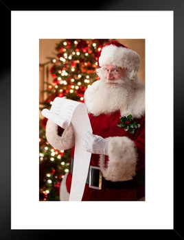 Santa Reading His List Christmas Cool Wall Decor Art Print Poster 24x36 Poster Foundry