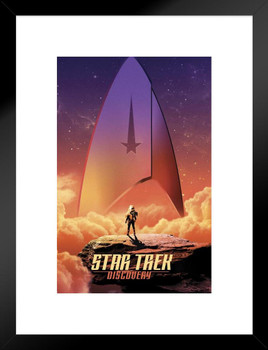 Star Trek Discovery Sky Badge Framed Poster 14x20 Inch Poster Foundry