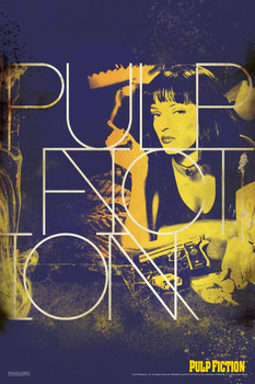 Pulp Fiction Uma Thurman Smoking Movie Laminated Dry Erase Sign Poster 24x36