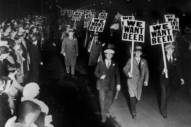 We Want Beer Signs Protest Against Prohibition Photo Poster 36x24 inch