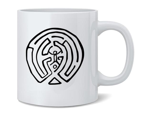 The Maze Secret Map Graphic Ceramic Coffee Mug Coffee Mugs Tea Cup Fun Novelty Gift 12 oz
