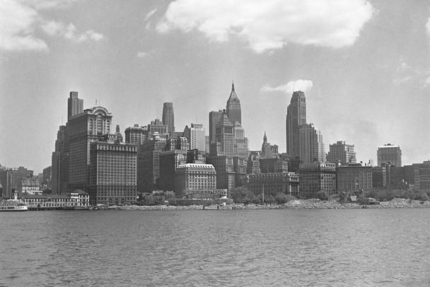 Manhattan New York City Skyline 1950s Archival Photo Photograph Laminated Dry Erase Sign Poster 36x24