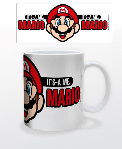 Super Mario Bros Its A Me Mario Face Retro Vintage Video Game Gamer Ceramic Coffee Mug Tea Cup Fun Novelty Gift 12 oz