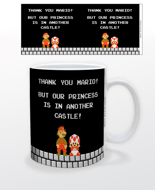 Super Mario Bros NES Thank You But Our Princess Is In Another Castle Nintendo Video Game Gamer Ceramic Coffee Mug Coffee Mugs Tea Cup Fun Novelty Gift 12 oz
