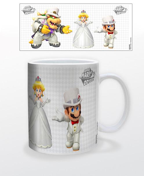 Super Mario Odyssey Nintendo Princess Peach Mario Bowser Wedding Video Game Gamer Ceramic Coffee Mug Coffee Mugs Tea Cup Fun Novelty Gift 12 oz