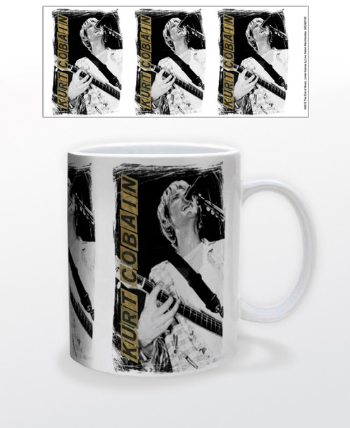 Kurt Cobain Nirvana Retro 90s Music Ceramic Coffee Mug Coffee Mugs Tea Cup Fun Novelty Gift 12 oz