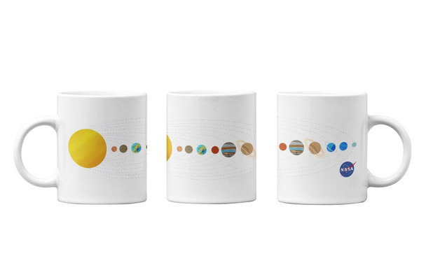 NASA Approved Solar System Earth Planets Astronomy Space Retro Classic Cool Ceramic Coffee Mug Coffee Mugs Tea Cup Fun Novelty Gift 12 oz