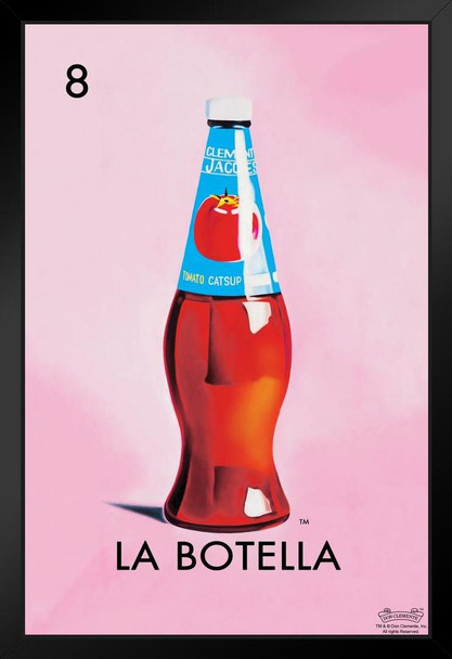 08 La Botella Bottle Loteria Card Mexican Bingo Lottery No Glare Wood Eco Framed Print 13x19