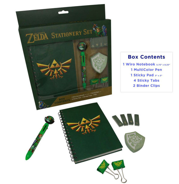 Legend of Zelda 5 item Stationery Set