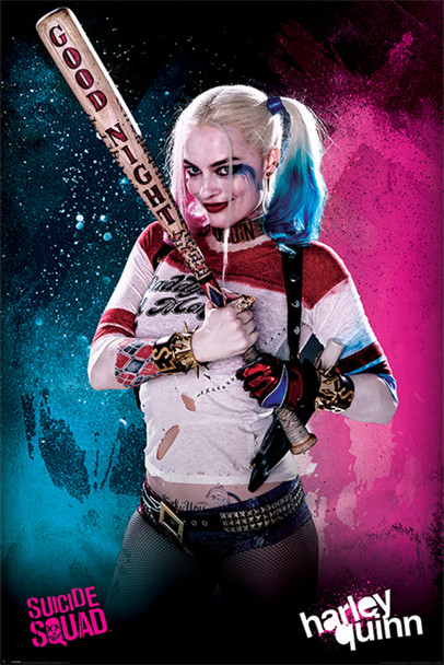Suicide Squad Good Night Harley Quinn Movie Cool Wall Decor Art Print Poster 24x36