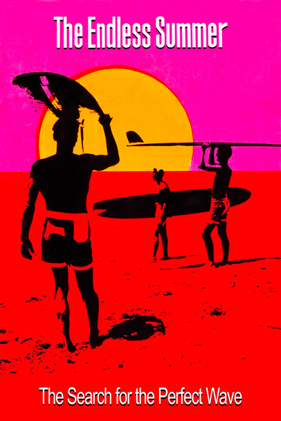 The Endless Summer Movie The Search For the Perfect Wave Surfing Documentary Retro Surfer 60s Classic Cool Wall Decor Art Print Poster 12x18