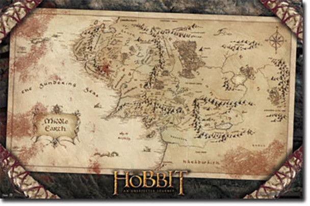 The Hobbit Map Regular Poster Cool Wall Decor Art Print Poster 24x36