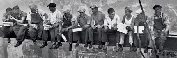 Workers Lunch On a Skyscraper Charles Ebbets Photo Cool Wall Decor Art Print Poster 36x12