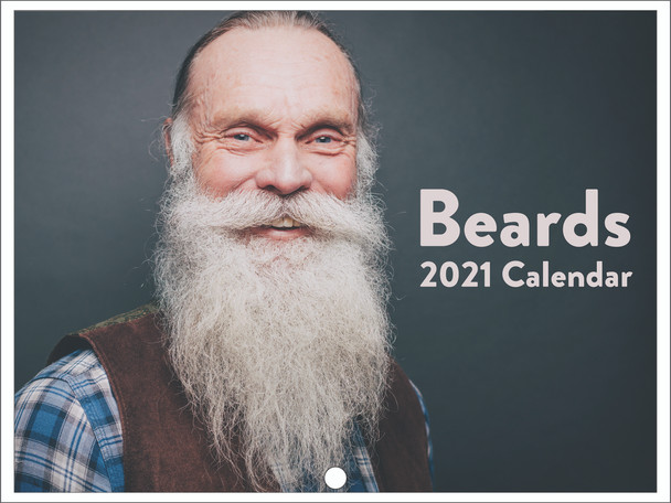 Beards Bearded Men Funny Cool 2021 Wall Calendar 12 Month Monthly Full Color Thick Paper Pages Folded Ready To Hang 18x12 inch