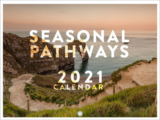 Seasonal Pathways Travel Photography Nature Seasons Rustic Rural 2021 Wall Calendar 12 Month Monthly Full Color Thick Paper Pages Folded Ready To Hang 18x12 inch