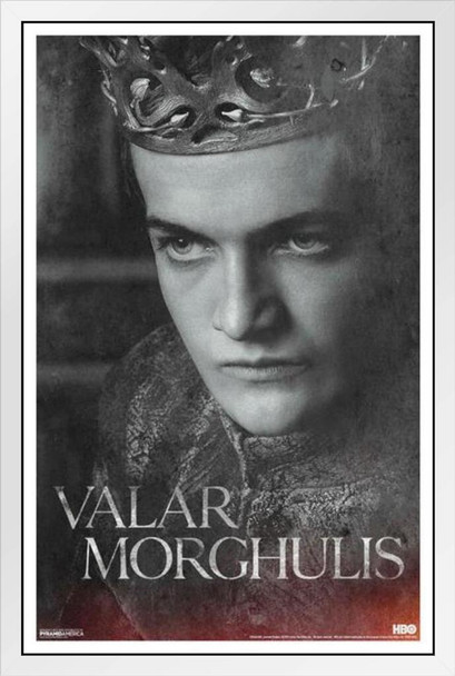 Game of Thrones Season 4 Joffrey White Wood Framed Poster 14x20