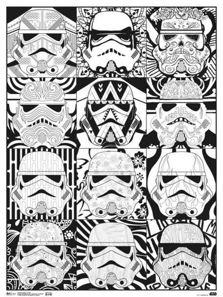 Star Wars Pattern Stormtroopers Movie Coloring Poster 18x24 inch
