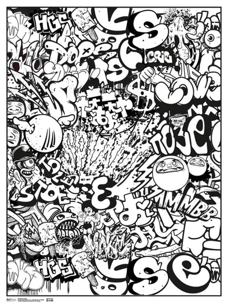 Graffiti Art Print Coloring Poster