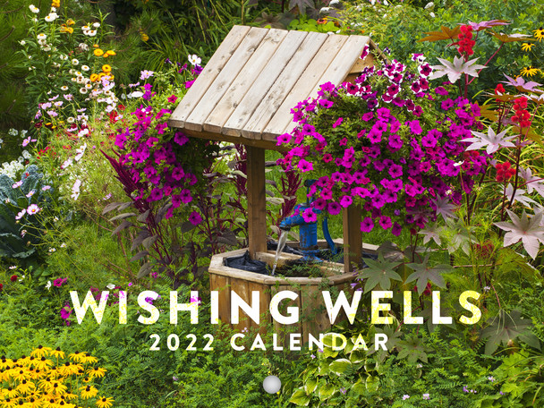 Wishing Wells 2022 Wall Calendar Flowers Outdoors Garden Decor Kitchen Gardening Nature Large 18 Month Calendar Monthly Full Color Thick Paper Pages Folded Ready To Hang Planner Agenda 18x12 inch