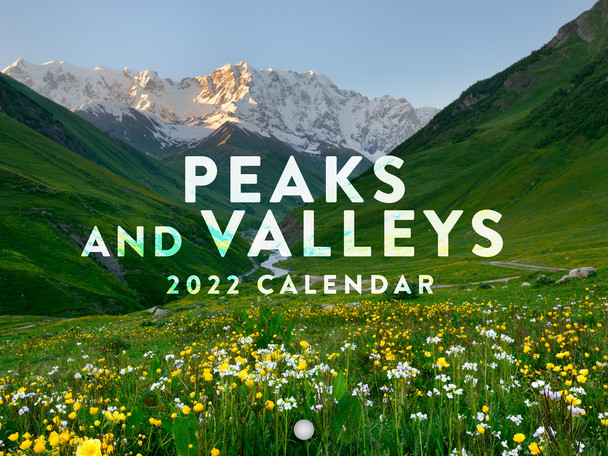 Peaks and Valleys 2022 Wall Calendar Scenic Travel Mountain Peaks Villages Nature Calendar Large 18 Month Calendar Monthly Full Color Thick Paper Pages Folded Ready To Hang Planner Agenda 18x12 inch