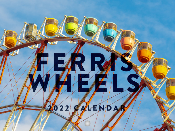 Ferris Wheels 2022 Wall Calendar Observation Wheels Travel Amusement Parks Calendar Large 18 Month Calendar Monthly Full Color Thick Paper Pages Folded Ready To Hang Planner Agenda 18x12 inch