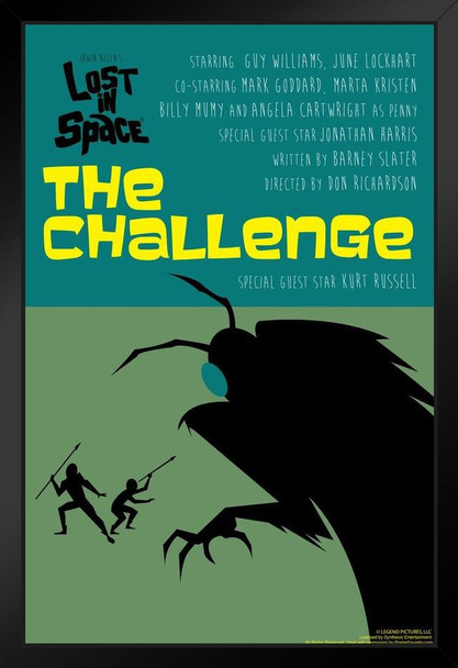 Lost In Space The Challenge by Juan Ortiz Episode 22 of 83 Art Print Black Wood Framed Poster 14x20