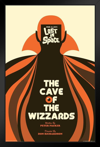 Lost In Space The Cave of The WIzzards by Juan Ortiz Art Print Black Wood Framed Poster 14x20