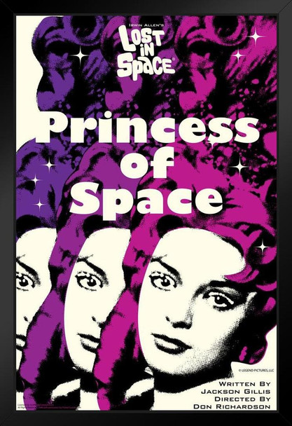 Lost In Space Princess of Earth by Juan Ortiz Episode 76 of 83 Art Print Black Wood Framed Poster 14x20