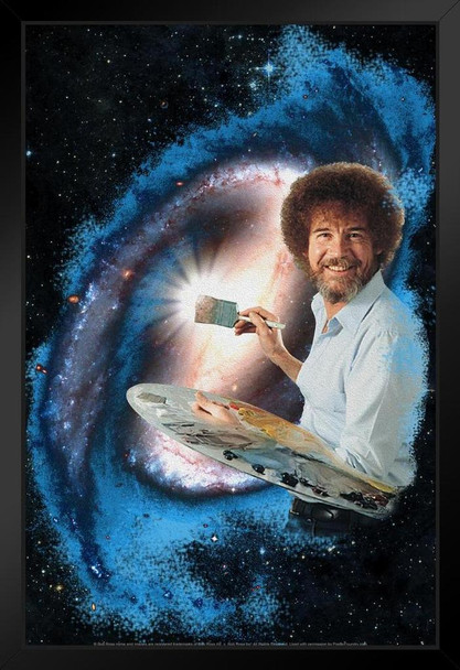 Bob Ross Galaxy Painting Art Print Framed Poster 14x20 inch