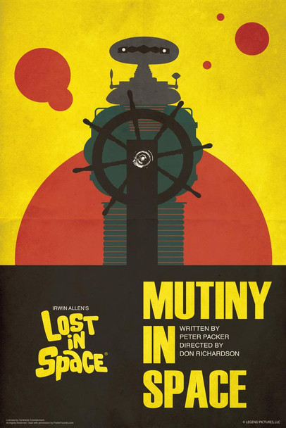 Lost In Space Mutiny In Space by Juan Ortiz Episode 48 of 83 Art Print Cool Huge Large Giant Poster Art 36x54
