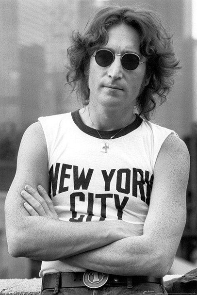John Lennon New York City Shirt Photo Music Poster 24x36 inch