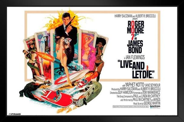 James Bond Live And Let Die Framed Poster 14x20 inch