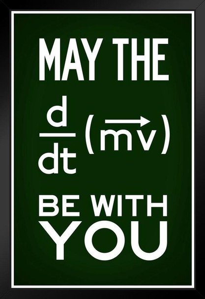 May The Force Be With You Equation Movie Quote Green Framed Poster 14x20 inch