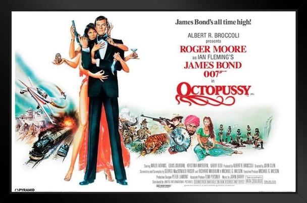 James Bond Octopussy Framed Poster 14x20 inch