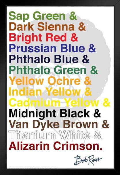 Bob Ross Color List Art Print Framed Poster 14x20 inch