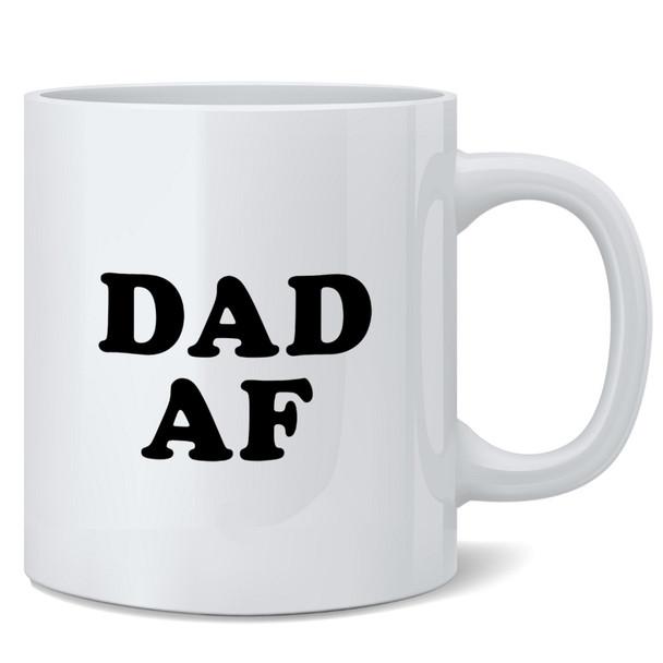 Dad AF Funny 12 oz Coffee Mug
