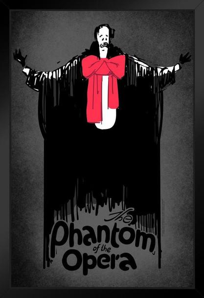 Phantom of The Opera Lon Chaney Movie Art Framed Poster 14x20 inch