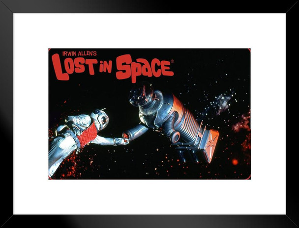 Lost In Space Robot In Space TV Show Matted Framed Art Print Wall Decor 20x26 inch