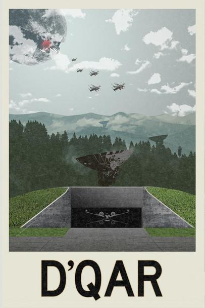 DQar Rebellion Base Movie Fantasy Travel Cool Wall Decor Art Print Poster 24x36